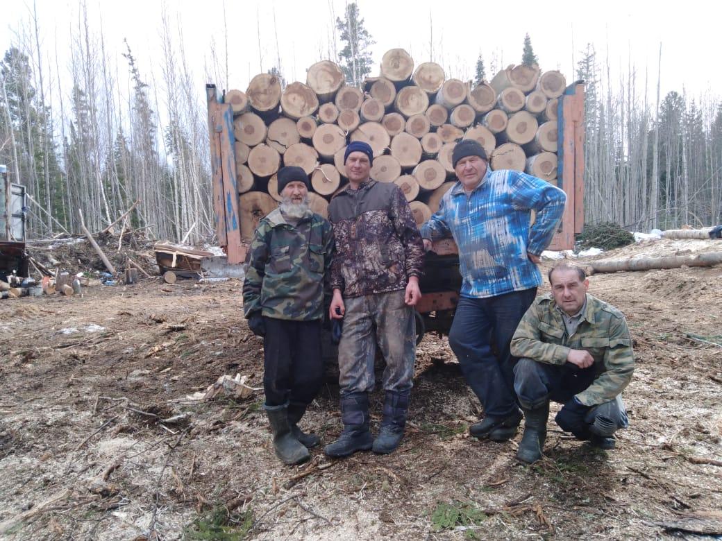 Заготовка дров. Братский дом пос. Белый Яр, Томская область